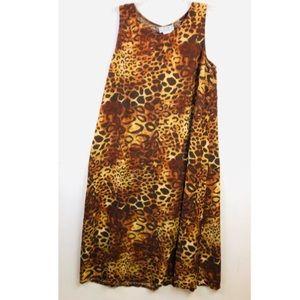 Desert Shores Leopard Print Maxi Dress Vintage